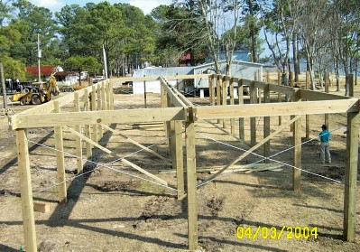 Site built modular homes on piling for Wood piling foundation