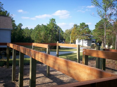 Modular home modular home pilings for Wood piling foundation